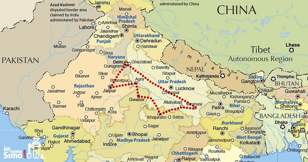 Cartina India Del Nord.Il Tuo Primo Viaggio In India Qualche Consiglio Utile Iosonosimo